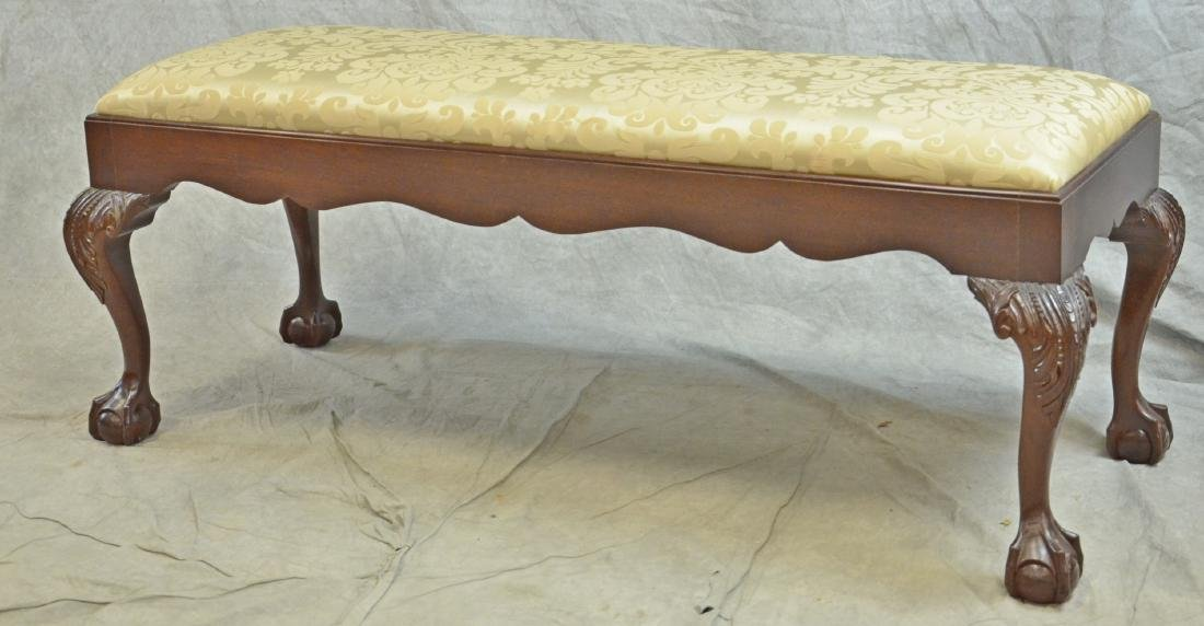 Mahogany Chippendale Style Window Bench