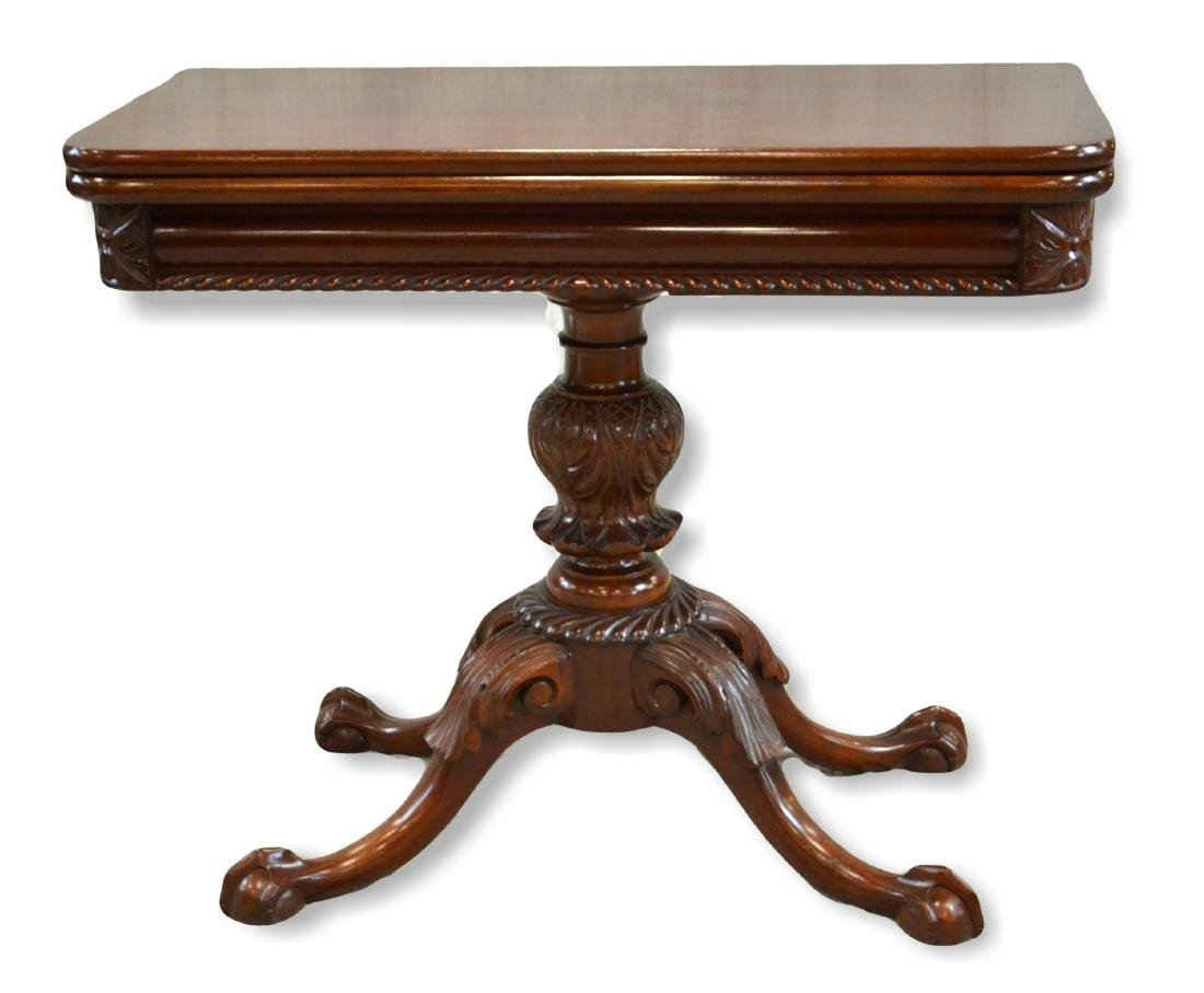 Carved Mahogany Federal Style Game Table