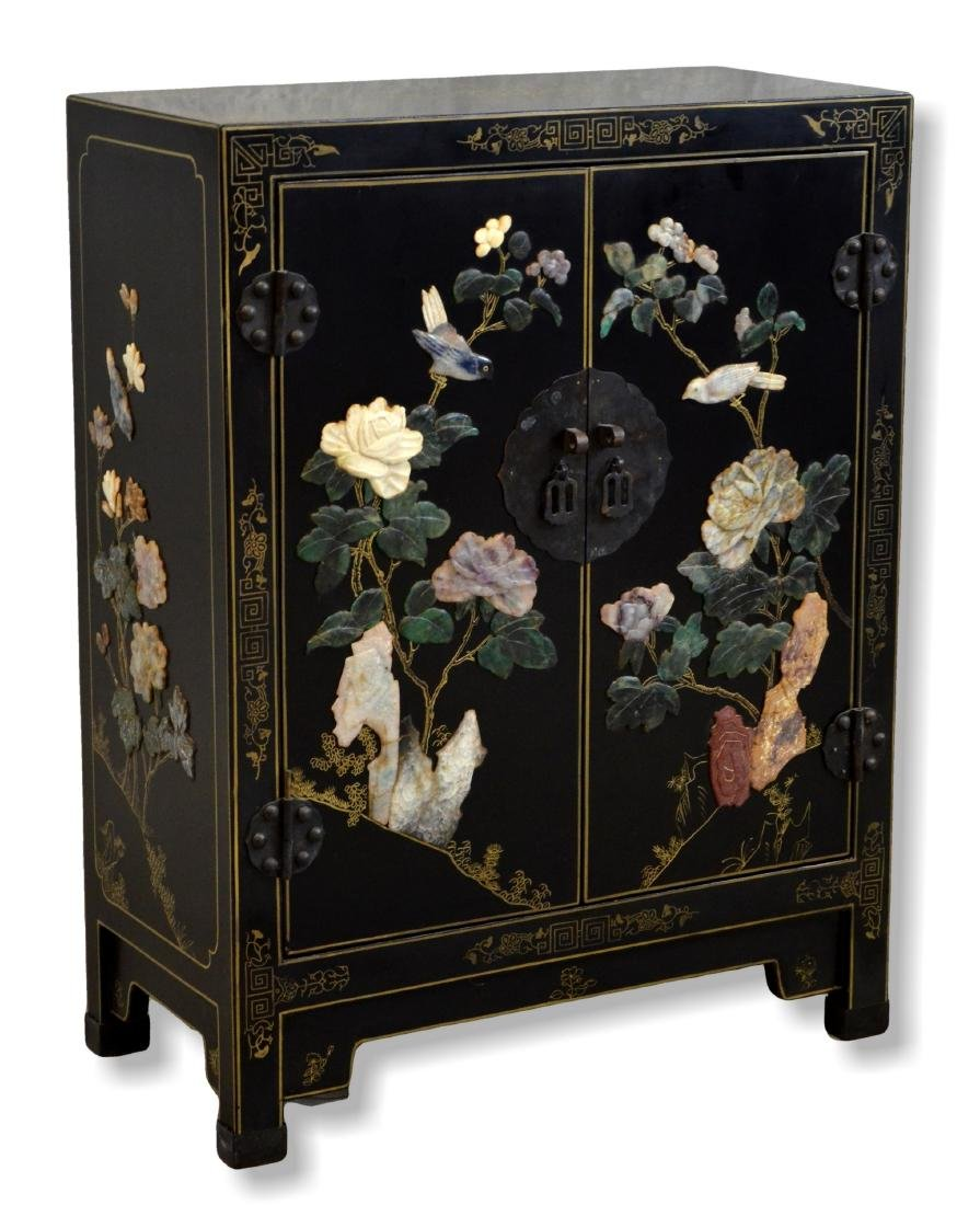 Gilt & Black Lacquered Cabinet