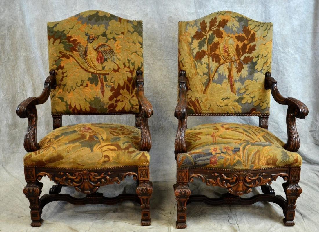 Renaissance Revival Settee & 2 Armchairs - 2