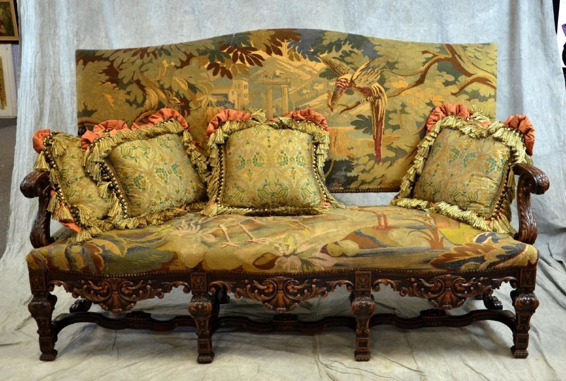 Renaissance Revival Settee & 2 Armchairs - 3