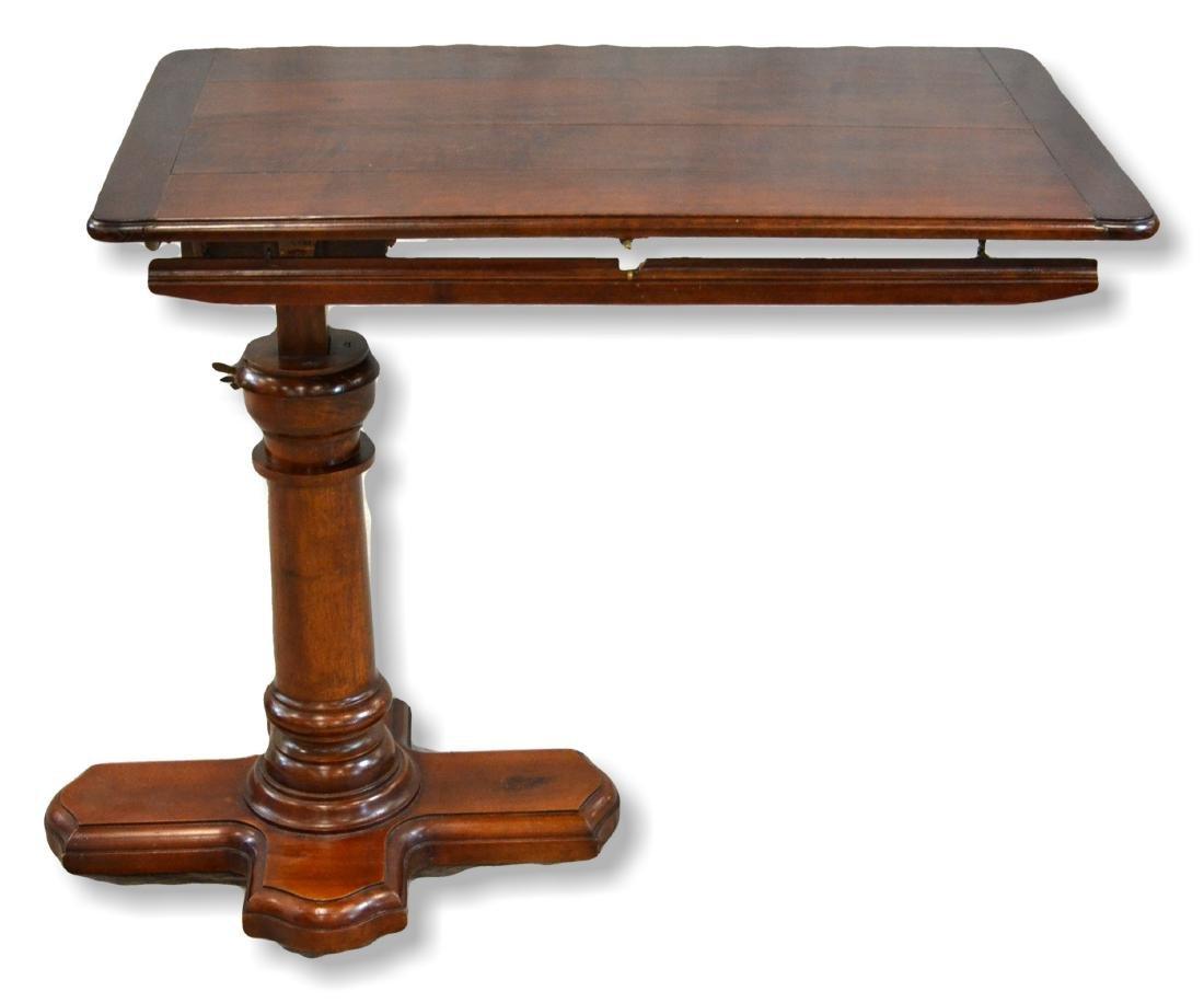 Mahogany Victorian Swiss Adjustable Reading Stand