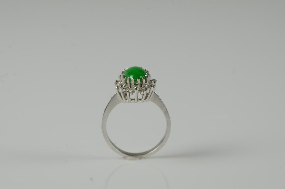 14KT YG and jadeite cluster ring - 3