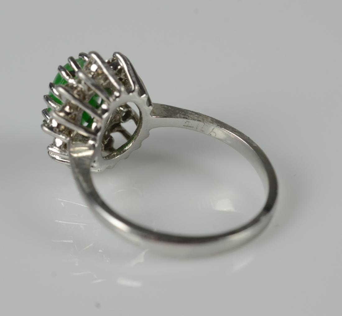 14KT YG and jadeite cluster ring - 4