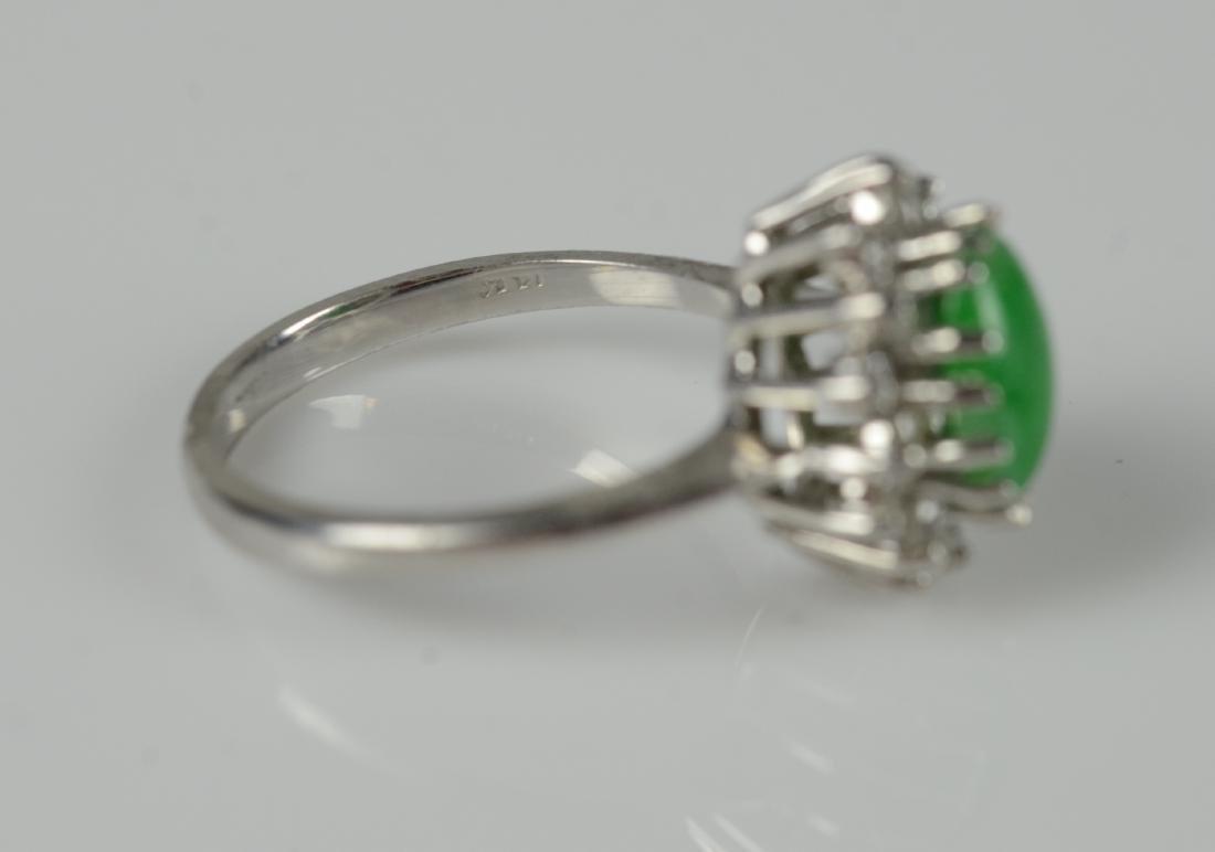 14KT YG and jadeite cluster ring - 5