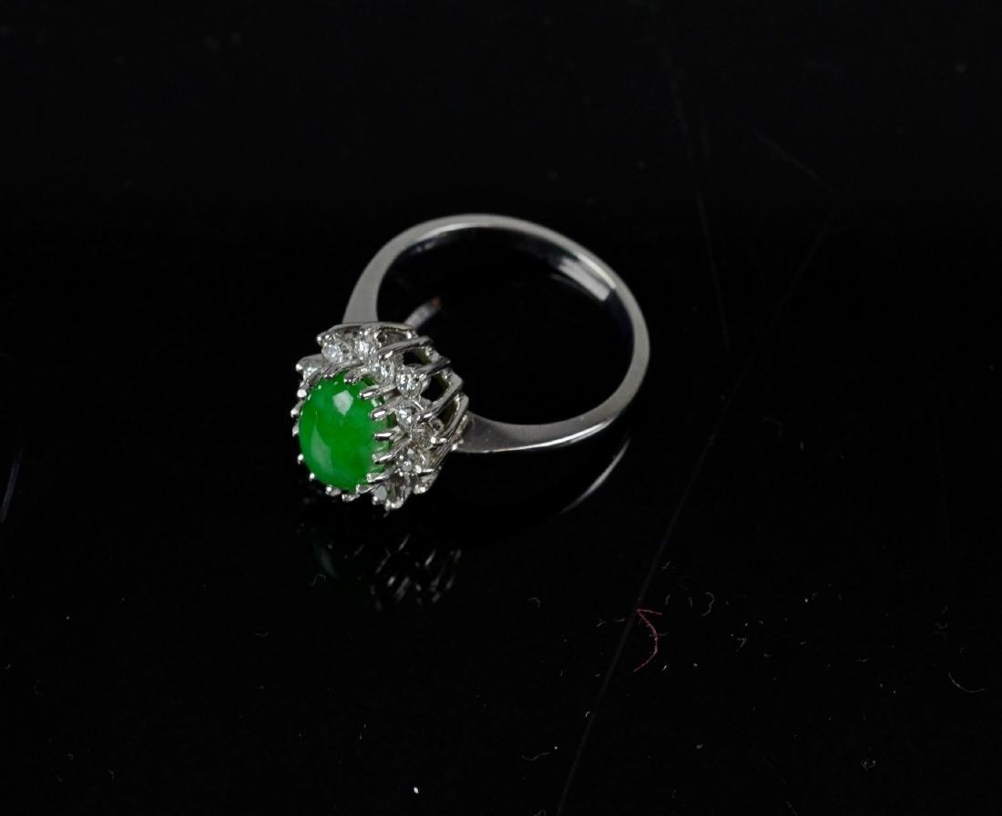 14KT YG and jadeite cluster ring - 6