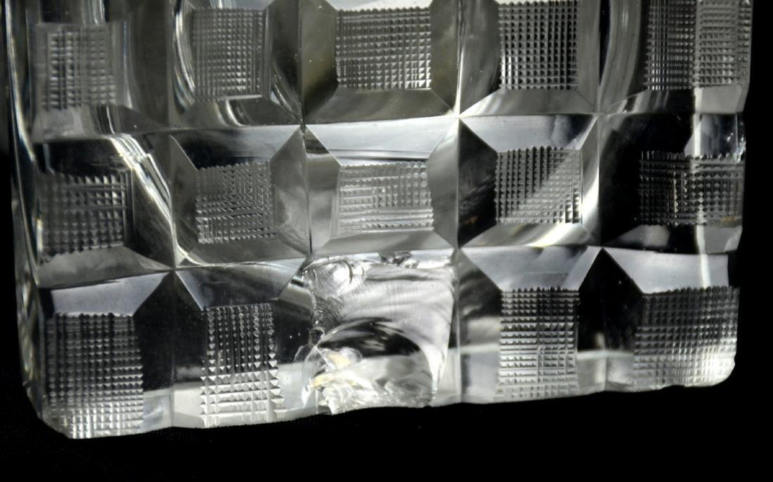 Pr Bohemian Cut Glass Vases - 5
