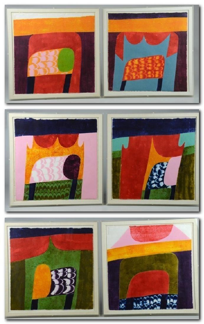 Carol Summers (6) Abstract Woodcut Prints