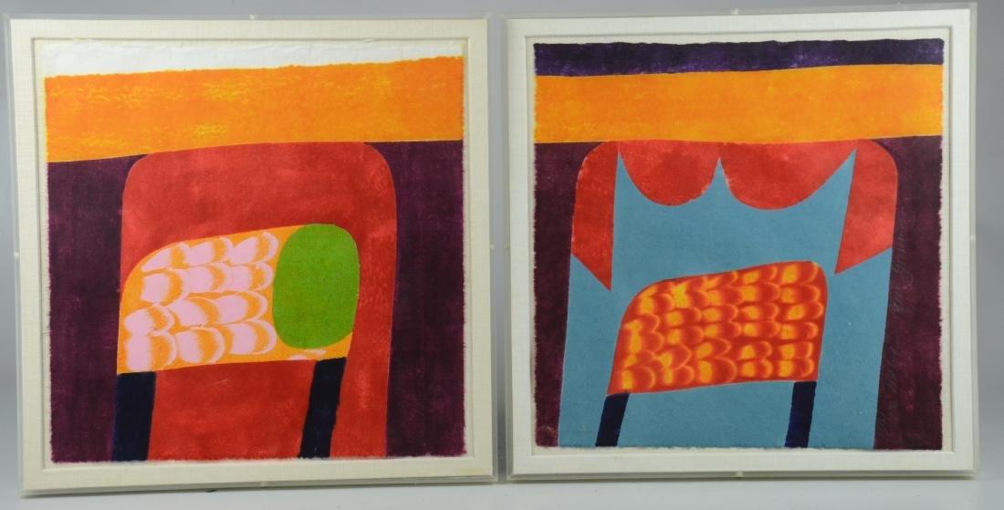 Carol Summers (6) Abstract Woodcut Prints - 2
