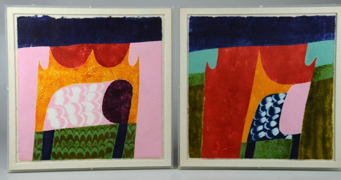 Carol Summers (6) Abstract Woodcut Prints - 3