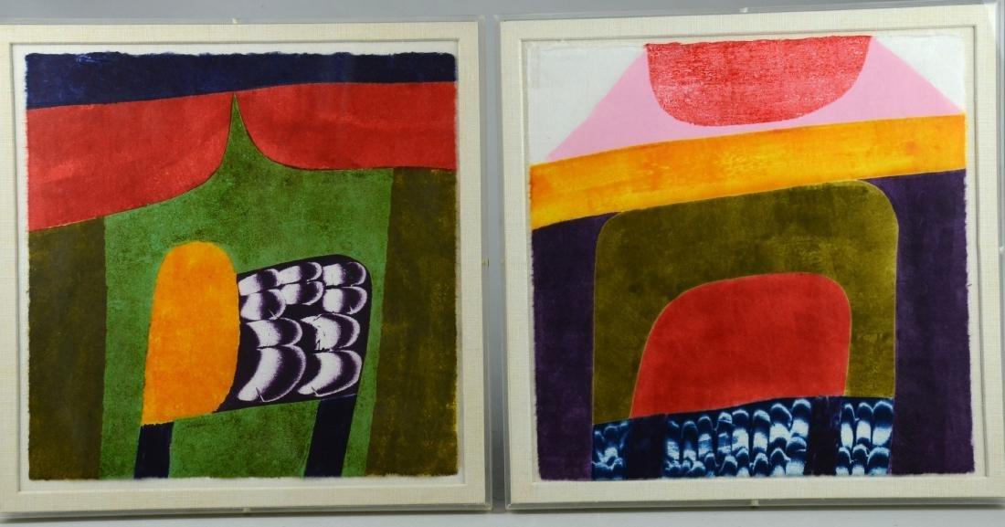 Carol Summers (6) Abstract Woodcut Prints - 4