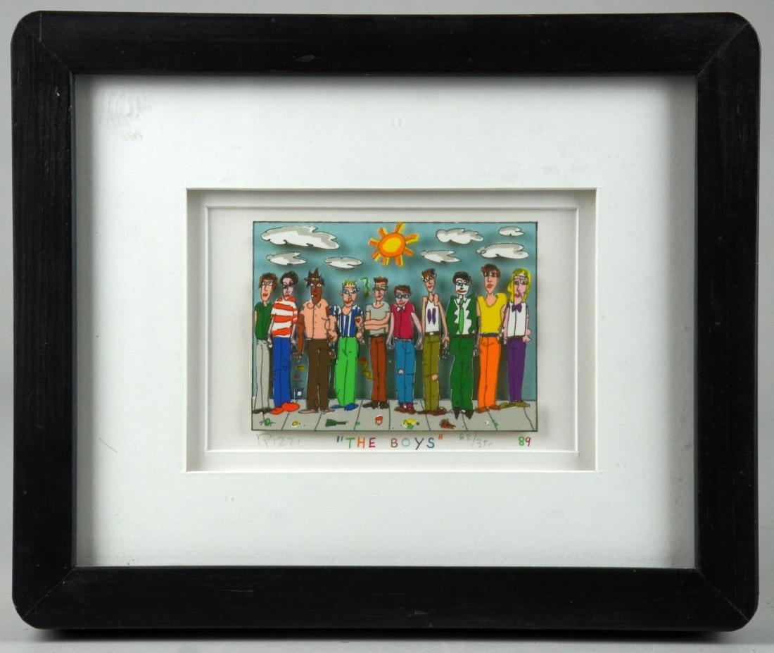 "James Rizzi, 3D Papercut Artwork, ""The Boys"""