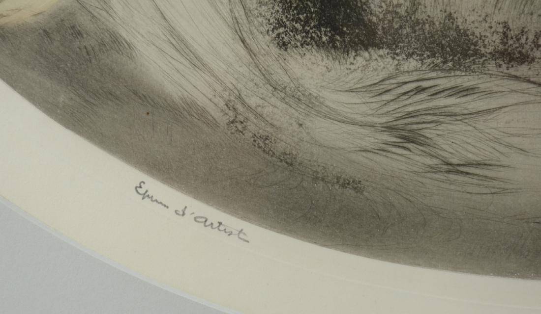 """Louis Icart Color Etching, """"Parrots"""" - 3"""