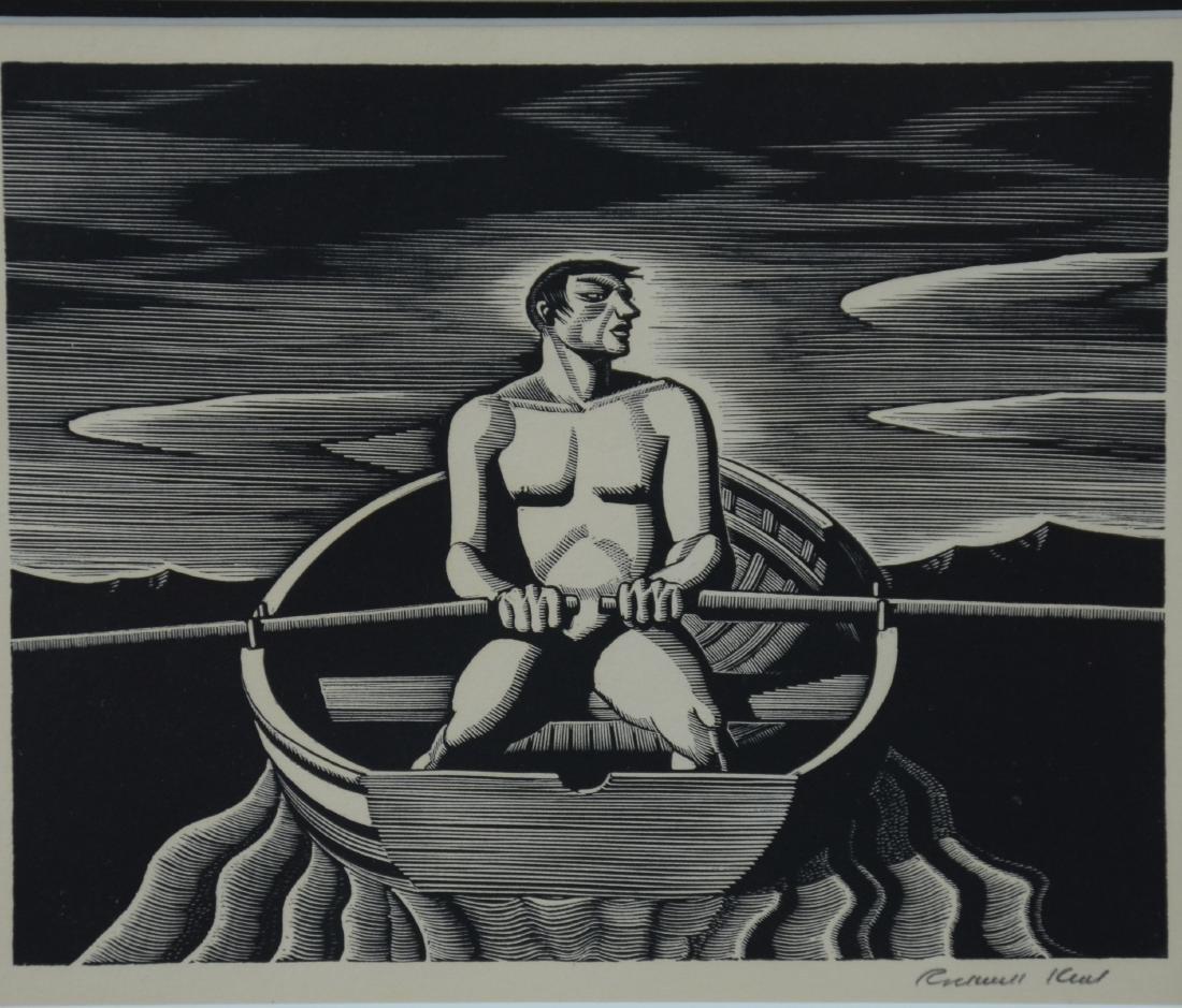 "Rockwell Kent Woodcut Print, ""Oarsman"" - 2"