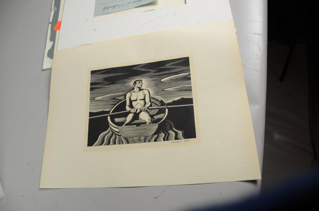"Rockwell Kent Woodcut Print, ""Oarsman"" - 3"