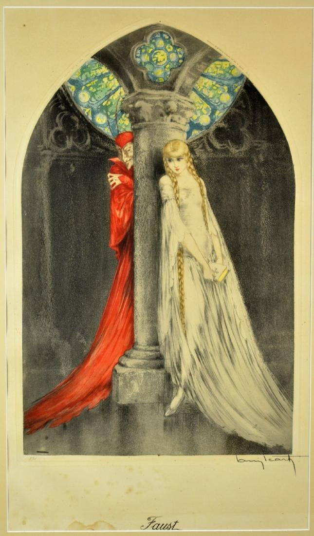 """Louis Icart (French, 1888-1950), color etching """"Faust"""""""
