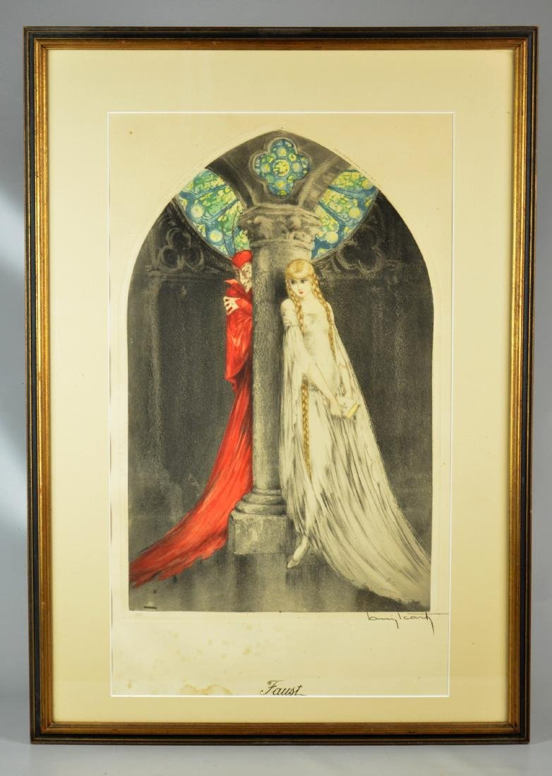 """Louis Icart (French, 1888-1950), color etching """"Faust"""" - 2"""