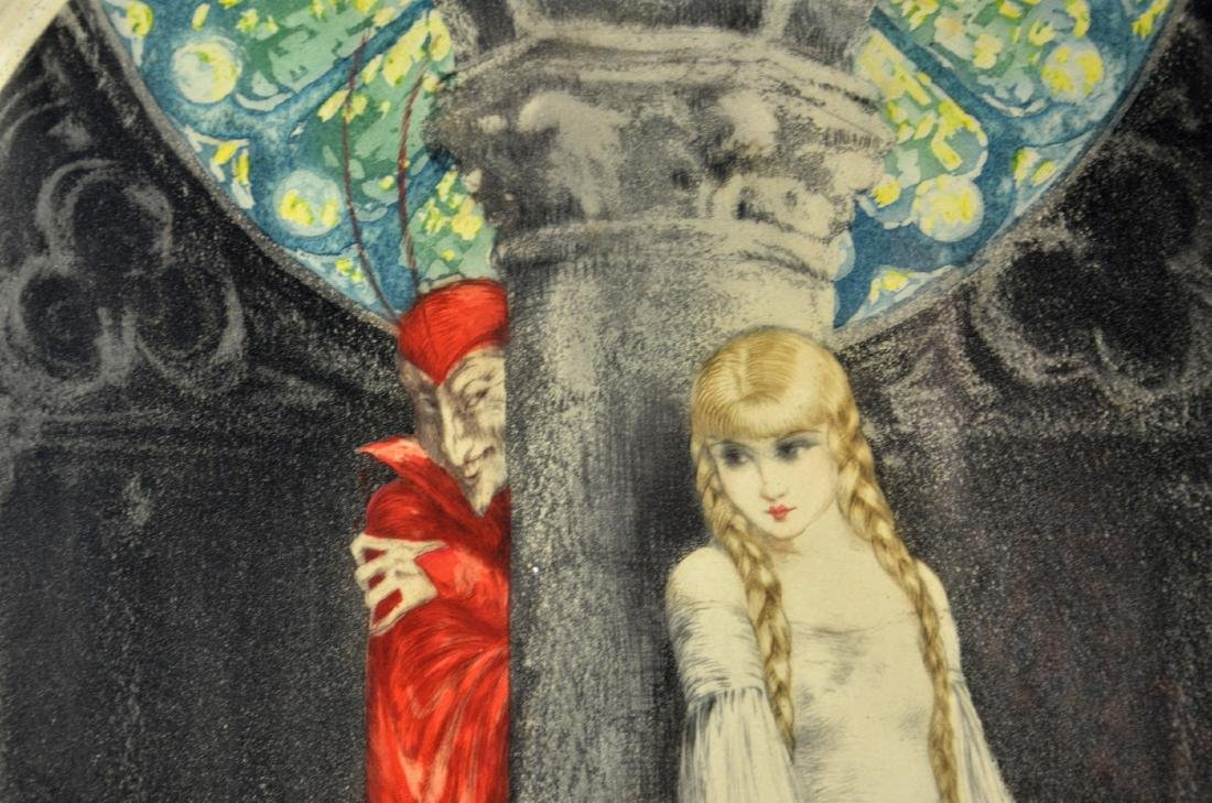 """Louis Icart (French, 1888-1950), color etching """"Faust"""" - 6"""