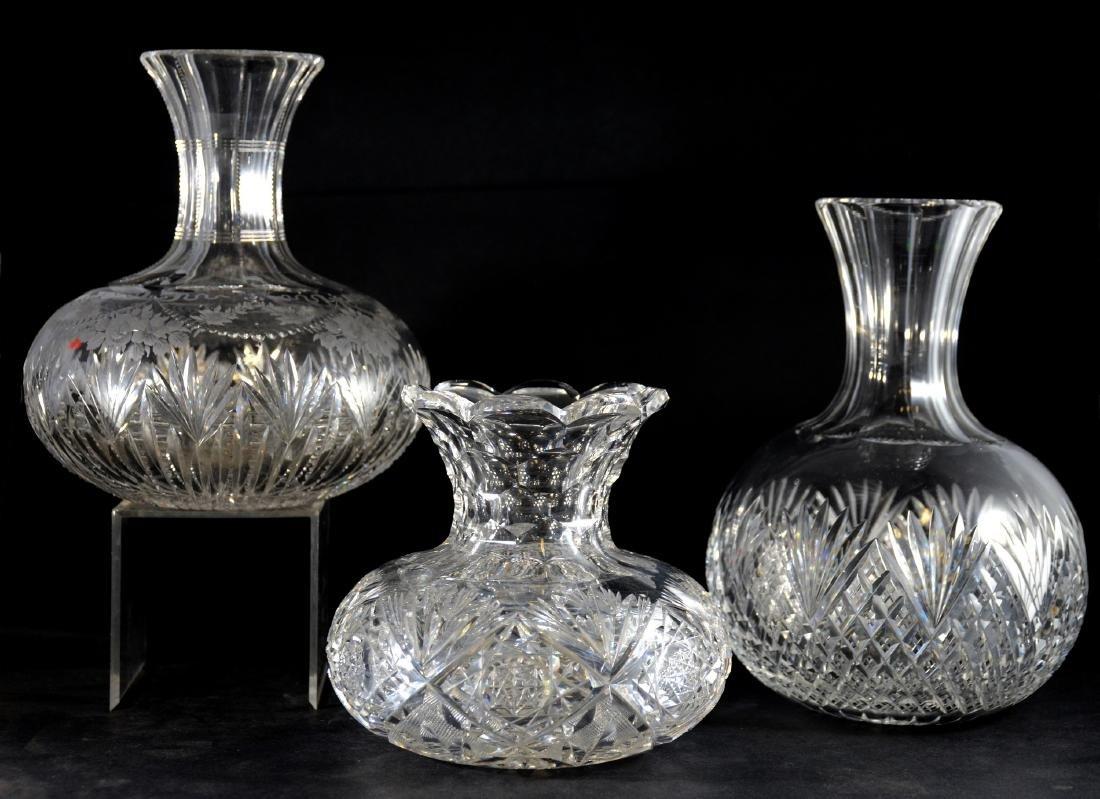 (3) pcs ABCG, 2 water bottles & rose bowl