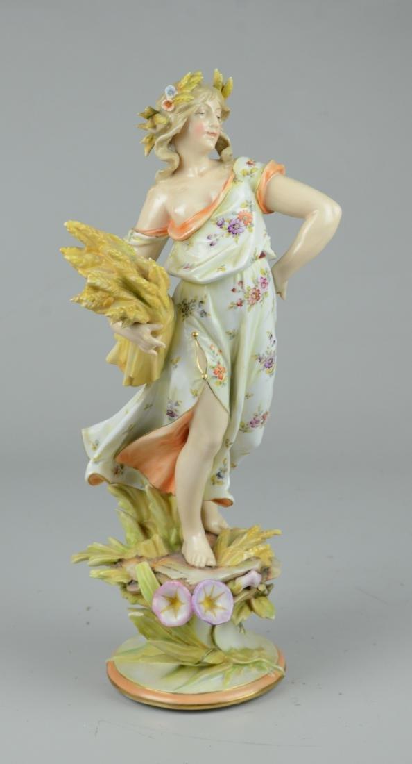 Volkstadt Art Nouveau Four Seasons Autumn Figure