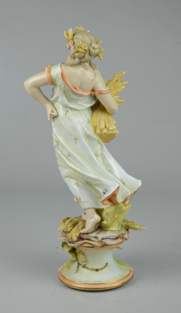 Volkstadt Art Nouveau Four Seasons Autumn Figure - 3