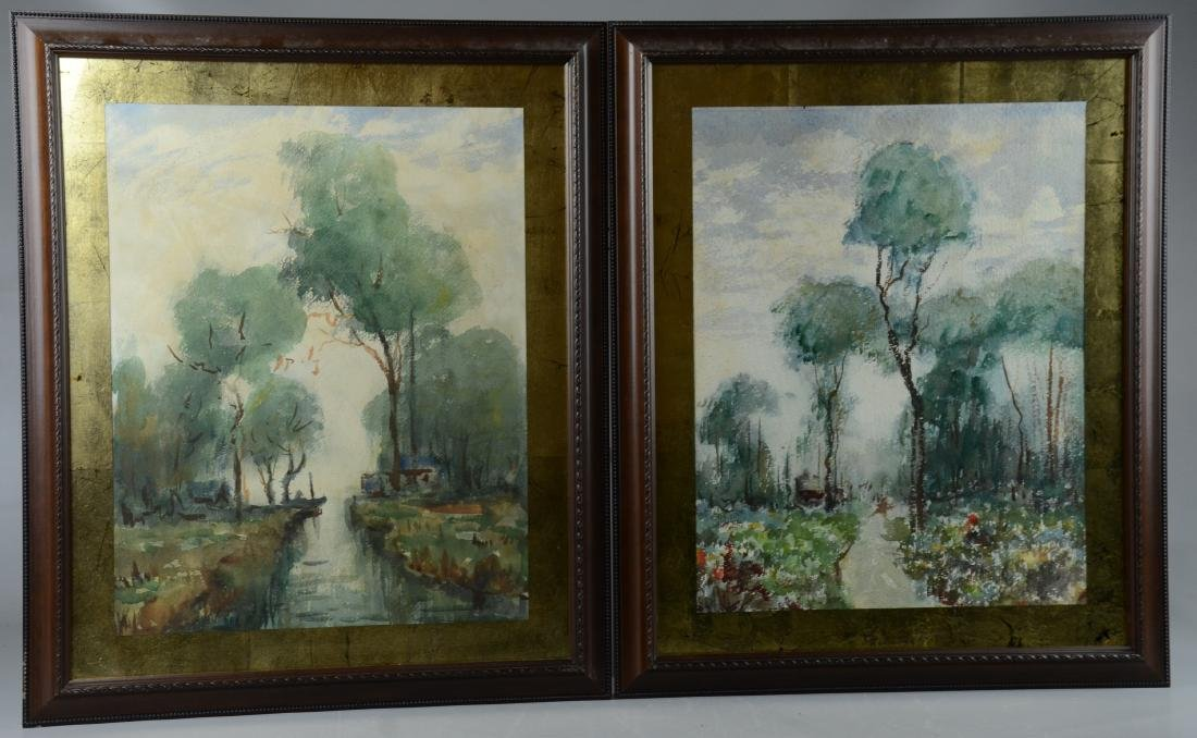 Asian Antiques Feng Chaoran To Assure Years Of Trouble-Free Service Vintage Chinese Watercolor Landscape Wall Hanging Scroll Painting Other Asian Antiques