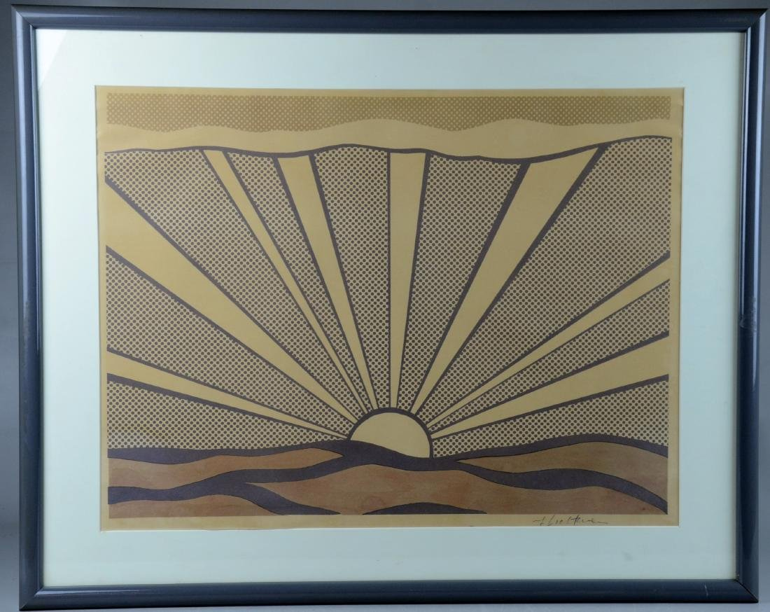"""Roy Lichtenstein Lithograph, """"Sunrise"""""""