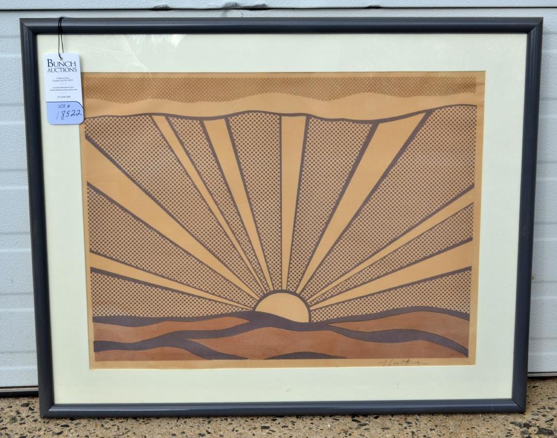 """Roy Lichtenstein Lithograph, """"Sunrise"""" - 3"""