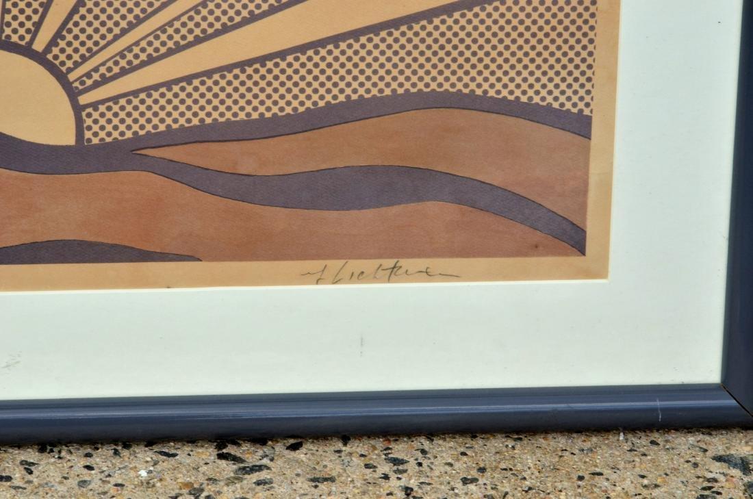 """Roy Lichtenstein Lithograph, """"Sunrise"""" - 4"""