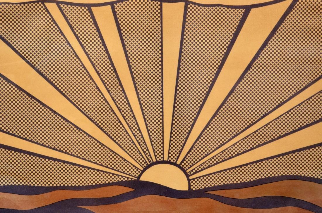 """Roy Lichtenstein Lithograph, """"Sunrise"""" - 5"""