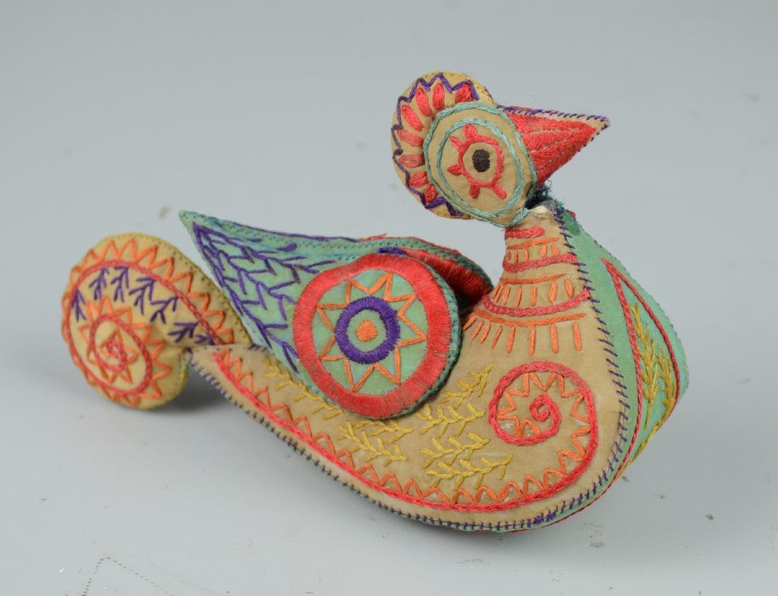Folk Art Bird Pin Cushion