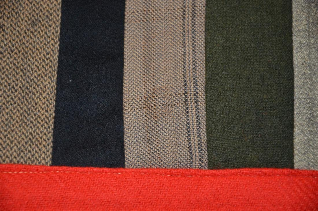 Log Cabin Wool Quilt, PA c 1900 - 9