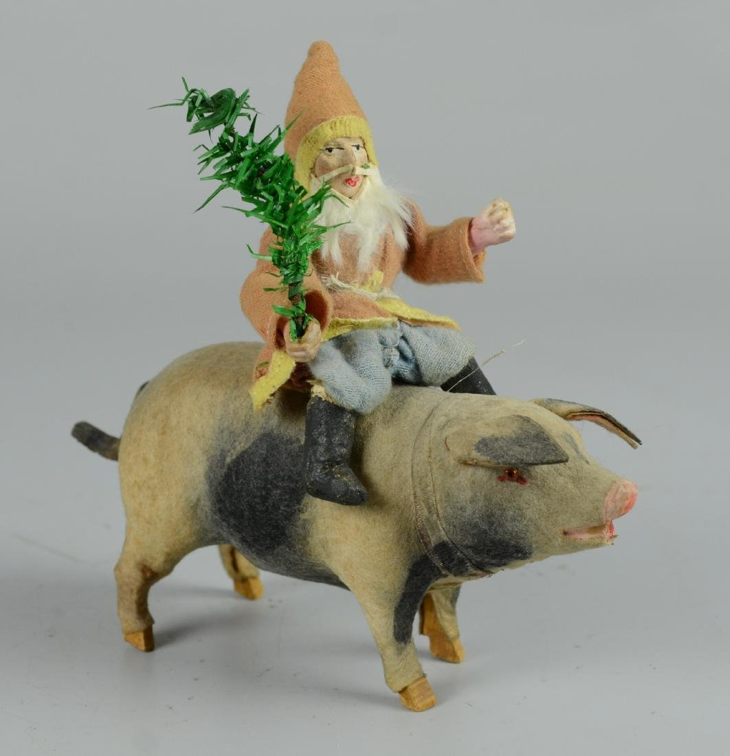 Santa Claus Riding Musical Pig