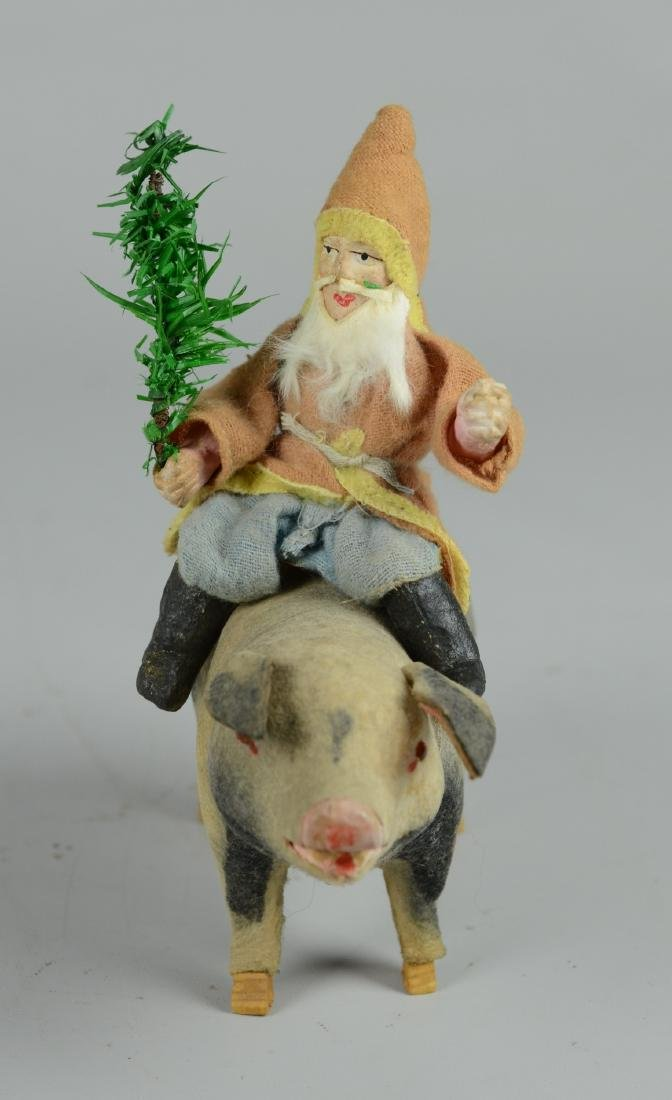 Santa Claus Riding Musical Pig - 3