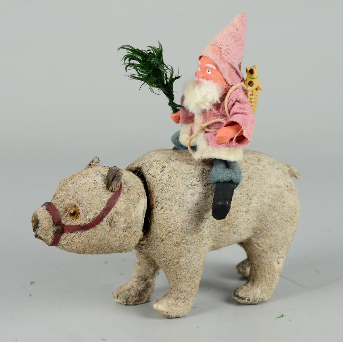 Santa Claus Riding on Polar Bear Figure