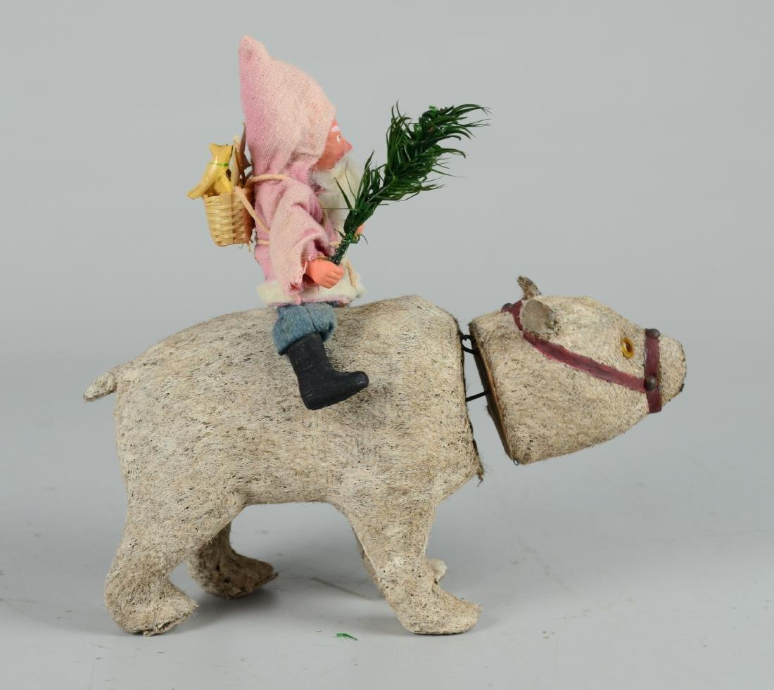 Santa Claus Riding on Polar Bear Figure - 3