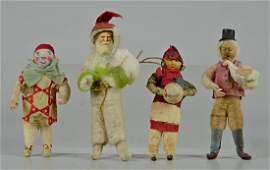 (4) Cotton Christmas Ornaments