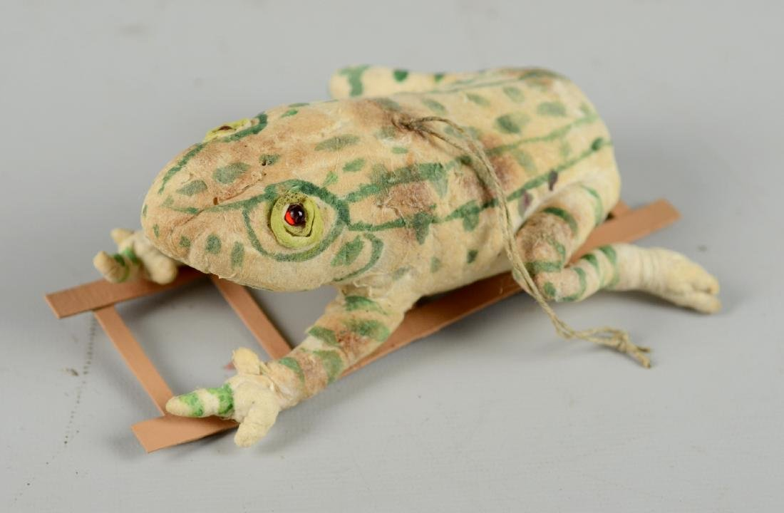Frog Climbing Ladder Christmas Ornament