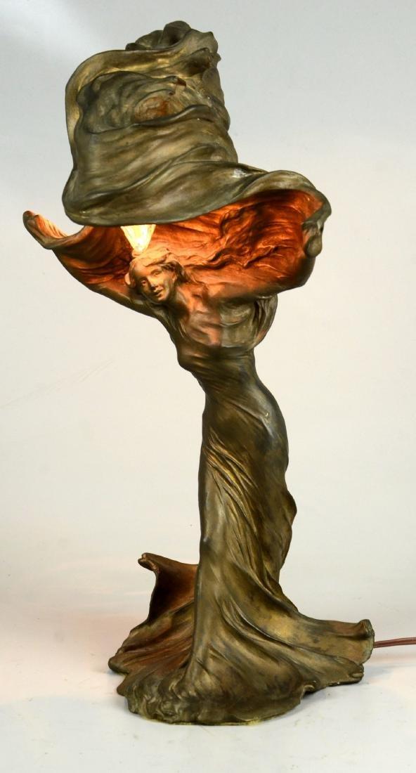 Raoul Larche Art Nouveau Dancer Lamp