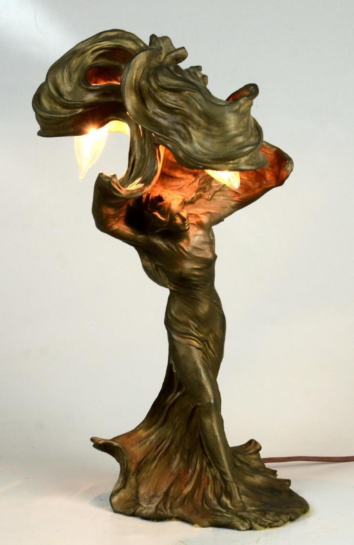 Raoul Larche Art Nouveau Dancer Lamp - 2