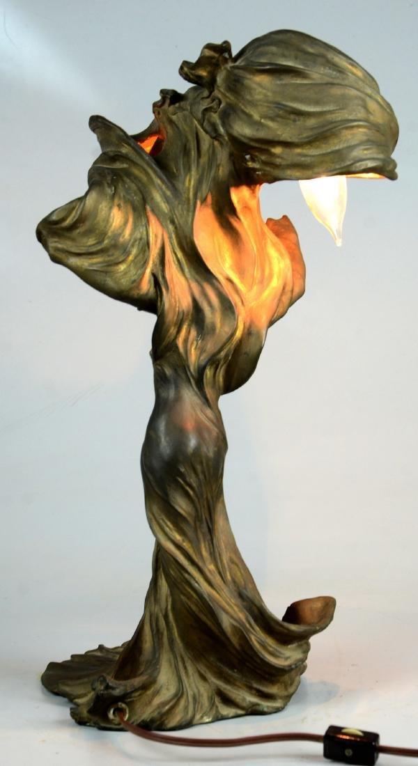 Raoul Larche Art Nouveau Dancer Lamp - 3