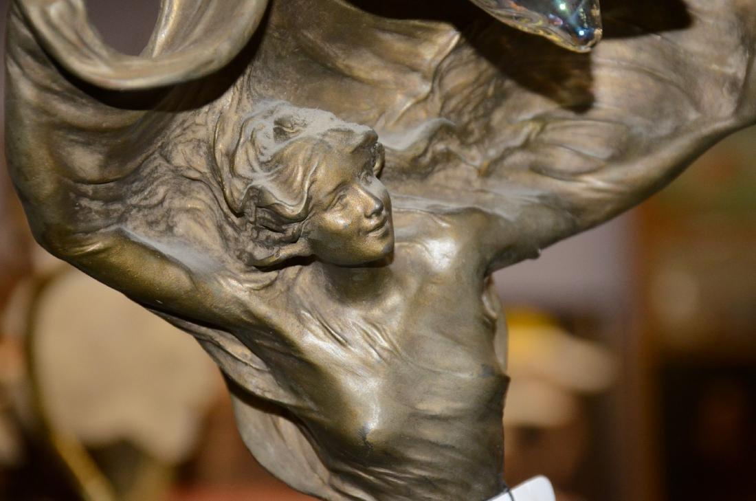Raoul Larche Art Nouveau Dancer Lamp - 6