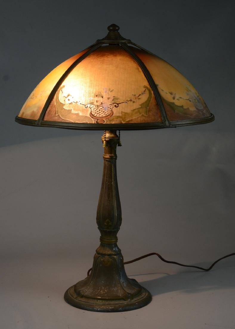 Reverse Painted Art Deco Table Lamp - 2