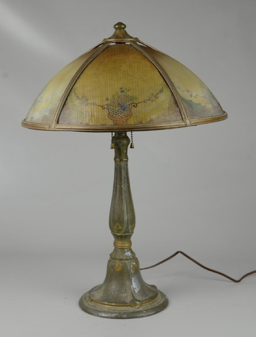 Reverse Painted Art Deco Table Lamp - 3