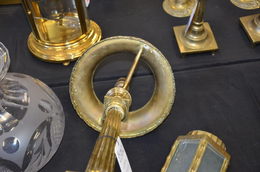 "pair long brass sconces, 13""h x 10""w - 4"