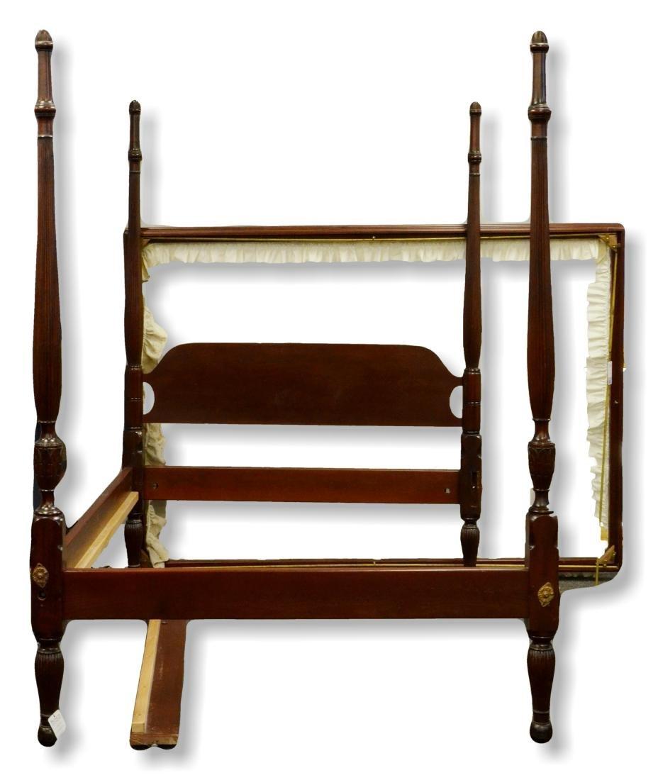 Mahogany Sheraton style 4 post canopy bed