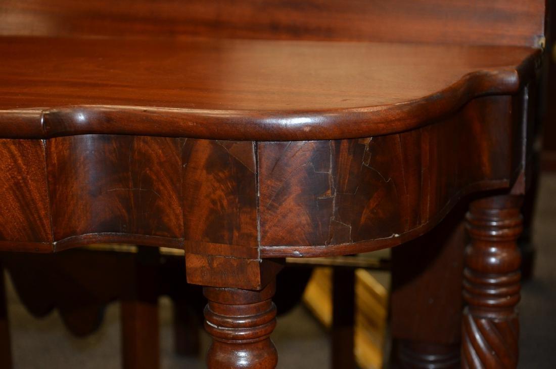 Pair mahogany Sheraton game tables - 3