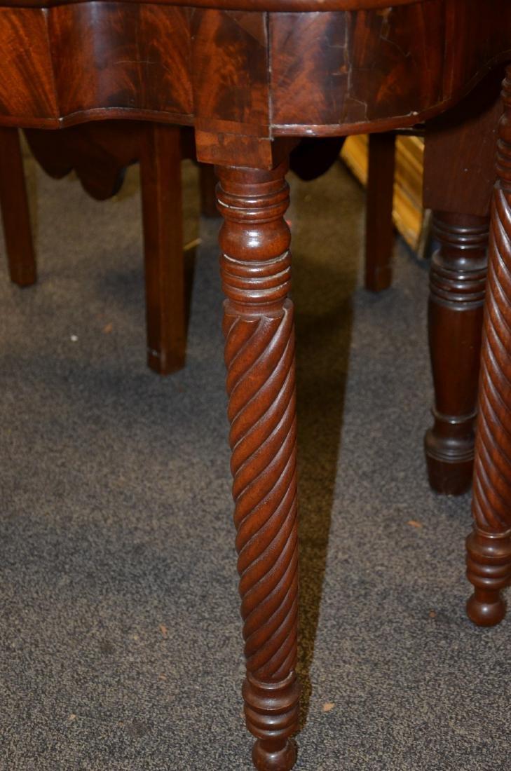 Pair mahogany Sheraton game tables - 4