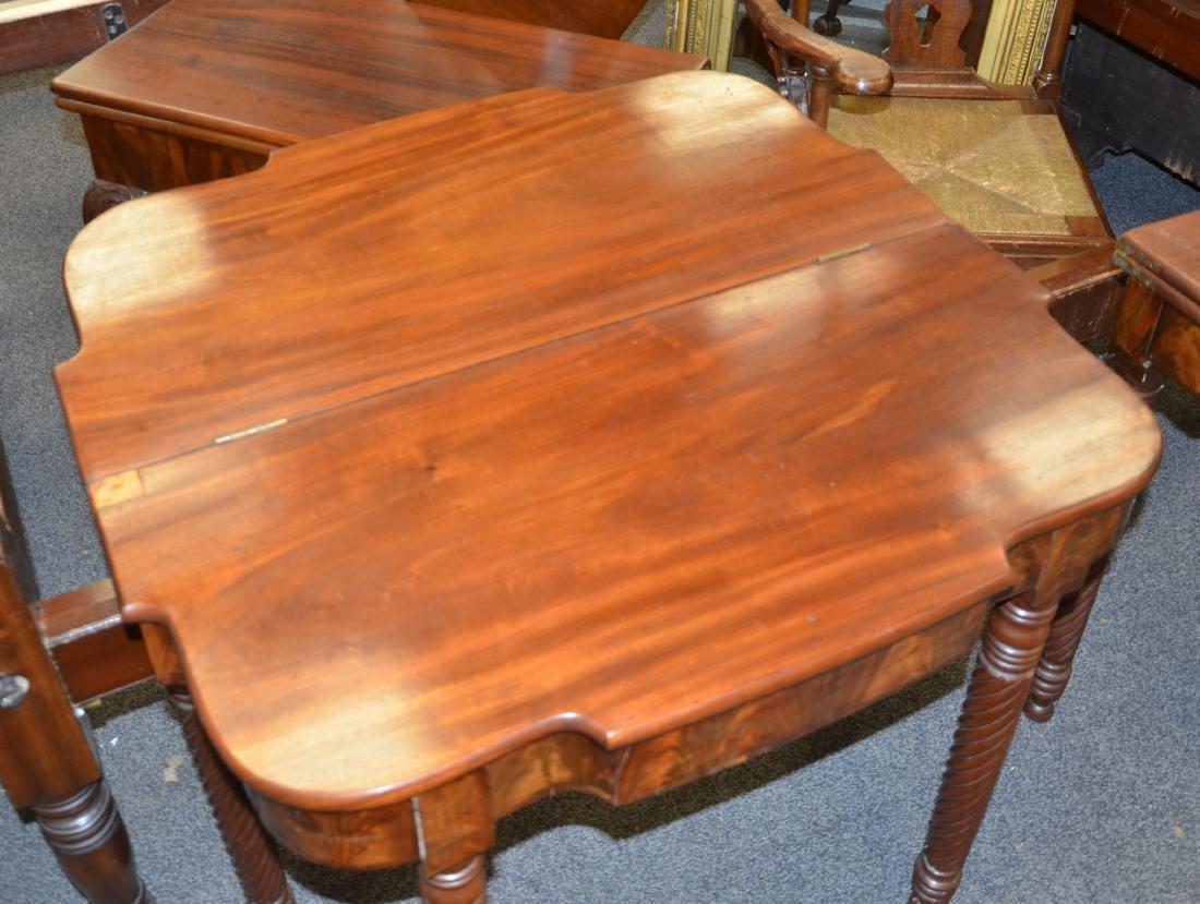 Pair mahogany Sheraton game tables - 6