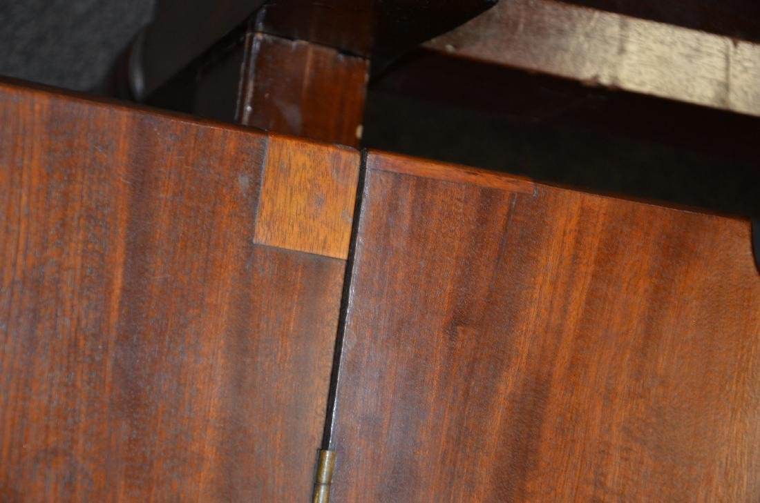 Pair mahogany Sheraton game tables - 7
